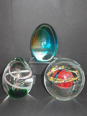 Art Glass Paperweights 3 Design/size Options • 18£