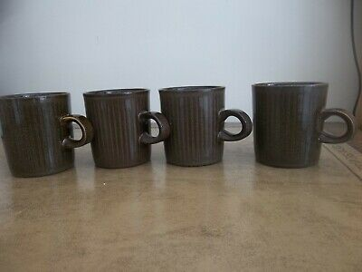 4  Purbeck Pottery Coffee Mugs  • 6£