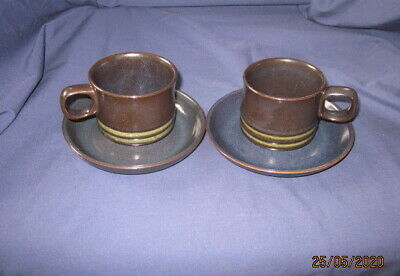 Denby Bokhara 2 X Tea Coffee Cups And Saucers Vgc • 4.99£