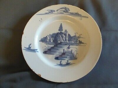 18th C Delft  English Blue And White Plate ?? • 75£