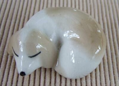 Szeiler Vintage Curled Up Sleeping Small Dog Ornament Figurine  • 10£