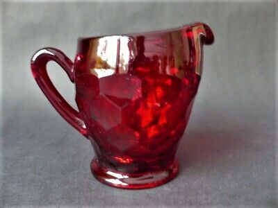 Antique Ruby Red Glass  Milk  Jug • 24.99£