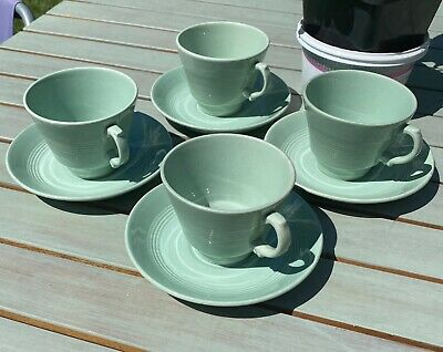 Four Beryl Woods Ware Tea Cups And Saucers • 0.99£
