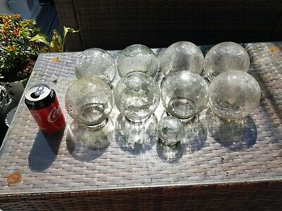 9 Large And 1 Small Crackle Glass Domes From Garden Lights • 0.99£