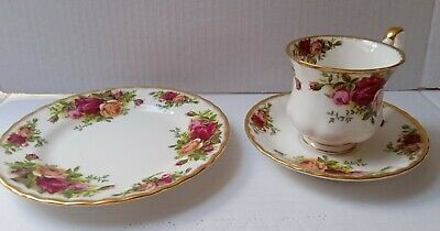 Vintage Royal Albert Old Country Roses Trios Cup Saucer Cake/side Plate 2nds  • 11£