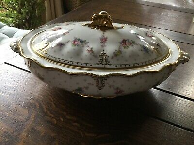New Royal Crown Derby 2nd Quality Antoinette Covered Vegetable Dish • 300£
