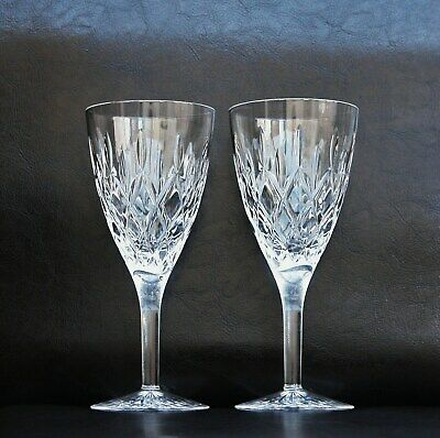 Stuart Crystal Tewkesbury Wine Glasses Goblets Set Of 2 19.2cm Tall • 36£