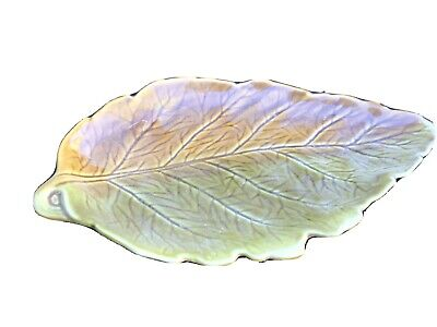 Lovely Vintage Royal Winton Leaf Shape Dish Green Brown Shallow Bowl • 4.99£
