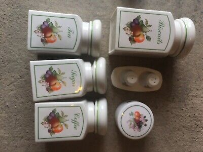 Johnson Brothers Fresh Fruits Set Of 4 Canisters • 15£