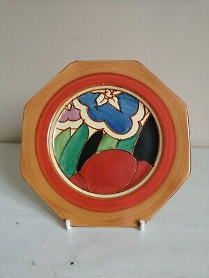 Clarice Cliff Bizarre/ Fantasque  Gardenia (Red)  Octagonal Side Plate • 195£