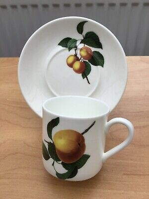 China Espresso Coffee Cup/can And Saucer White Apple Pattern • 3£