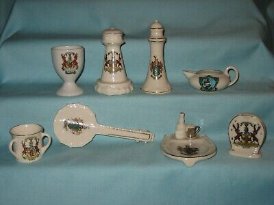 8 Crested Pieces [Inc. Banjo & Bass Beer Set] - All With BUXTON Crest • 8.99£