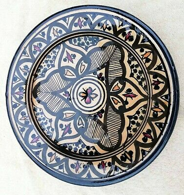 Hand Painted 21 Cm Safi North African Decorative Hanging Plate Safi • 15£