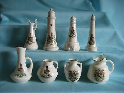8 Goss / Crested Pieces - All With BRIDLINGTON Crest • 6.99£