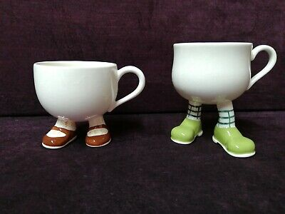 Two Carlton Ware Walking Ware Teacups • 60£