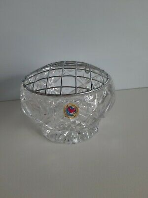 Crystal Cut Glass Rose Bowl From The Hofbaur Collection Good Cond  • 8.99£