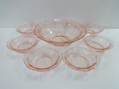 Pink Glass Bowls Jeannette Cherry Blossom  • 24.95£