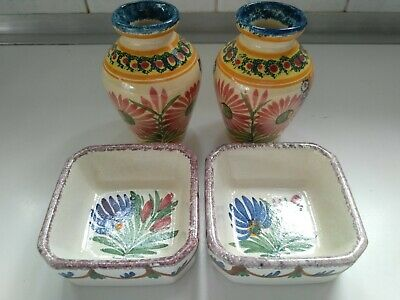 Henriot & HB Quimper Pottery Small Vases & Dishes • 20£