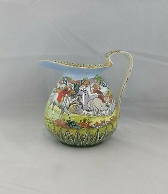 Royal Doulton Pitcher / Jug D1315 Two Riders & Hunting Dogs - Restored • 45£