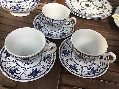 Johnson Brothers Indies Cups And Saucers X 3  • 10.99£