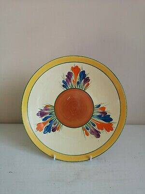Clarice Cliff Bizarre  Crocus  9  Dished Plate • 59£