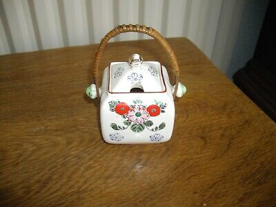 Vintage Jam/preserve Pot With Bamboo Handle - Charity Sale • 0.99£