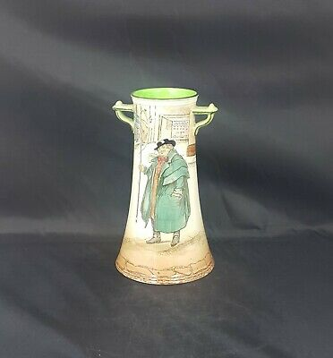 Royal Doulton Dickens Ware Double Handled Vase Tony Weller D2973 - Chipped • 50£
