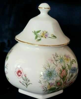 Aynsley - Wild Tudor - Bone China Lidded Pot • 3£