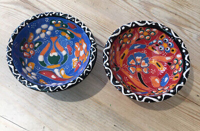 Two Hand Painted Small Trinket Bowls • 1.30£