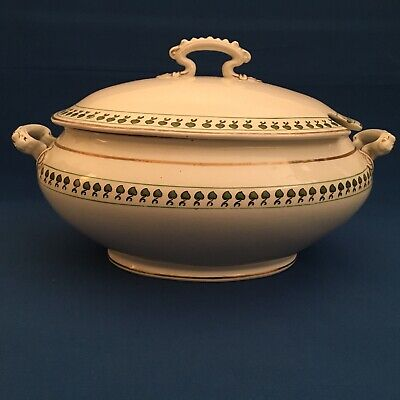 George Jones & Sons Crescent Pattern 22417 Tureen With Lid Circa 1920 • 35£