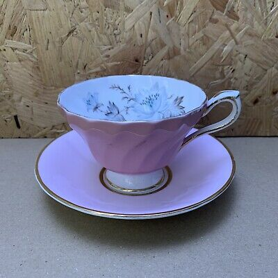 Vintage Pink Aynsley China Cabinet Tea Cup & Saucer • 4.99£