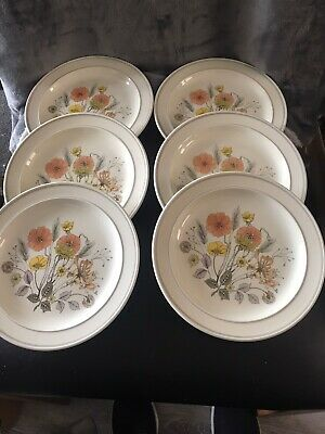 J & G Meakin Trend Hedgerow 6 Side Plates 7 Inches Vintage • 8£
