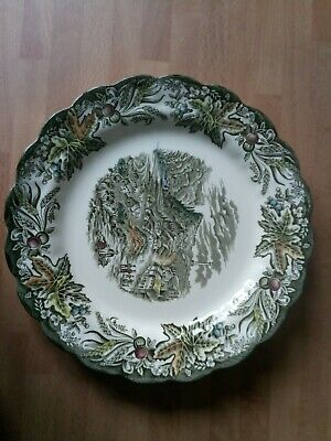 Vintage Ridgway Staffordshire Plate Queenston Heritage Canada 8 1/4  • 7.90£