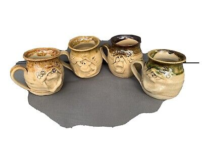 Collection Of 4 Ugly Mugs (collectable Welsh Pottery) • 8£