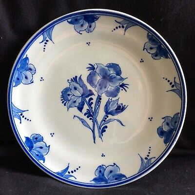 Genuine Hand Painted Delft 7  Wall Plate ( Floral Scene ) Unused • 8£