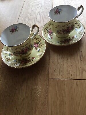 Pair Paragon Bone China Antique Series Teacups And Saucers. Made In England. • 8.20£