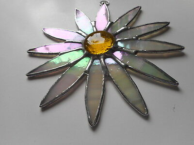 Stained Glass Daisy Flower Suncatcher Or Wall Mount.  • 20£