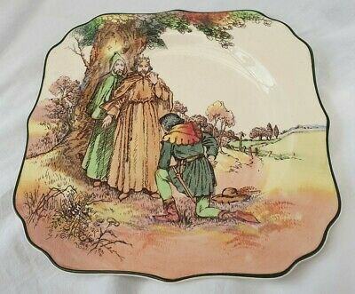 Royal Doulton Under The Greenwood Tree Plate Square • 10£