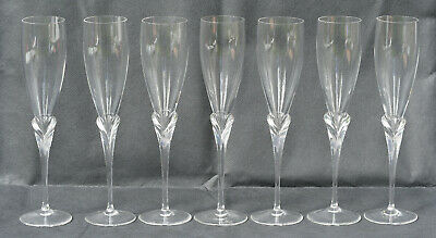 Rosenthal Calice Champagne Flute Glasses X 7 In Perfect Condition • 39.99£