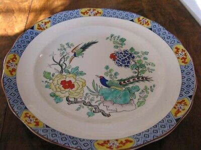 Antique Royal Staffortshire Pottery. A.j. Wilkinson Ltd Plate In Chinoserie Desi • 15£