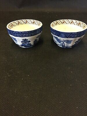 Vintage Booths Real Old Willow Finger Bowls • 4£