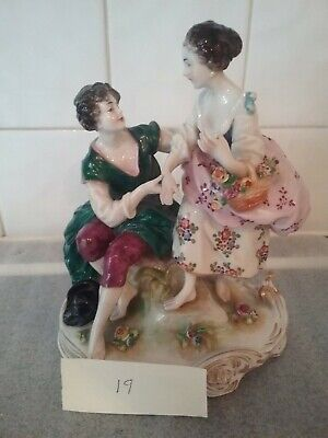 Porcelain China Statue Of Male And Female • 0.99£