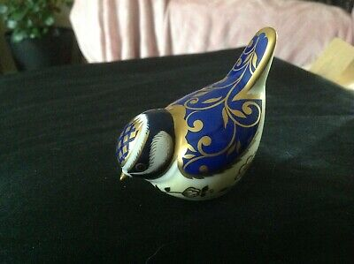 Royal Crown Derby Paperweight Bird Wye Blue Tit  Gold Stopper 2010 • 23£