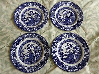 Four Willow Pattern Side  Plates - English Ironstone Tableware • 7£