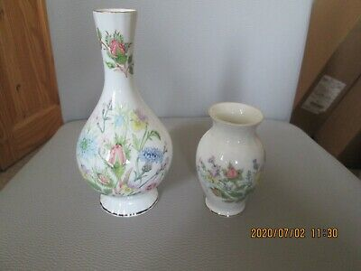 Two Aynsley Wild Tudor Porcelain Vases • 4.99£