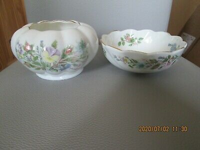 Two Aynsley Wild Tudor Porcelain Bowls • 4.99£