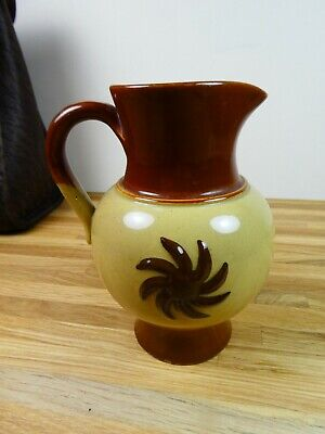 Vintage Victorian Farmhouse Stoneware Pottery Unusual Small Jug. Stamped To Base • 12.99£