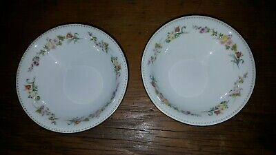 Wedgwood Mirabelle Soup Cereal Bowls X 2 • 11.99£
