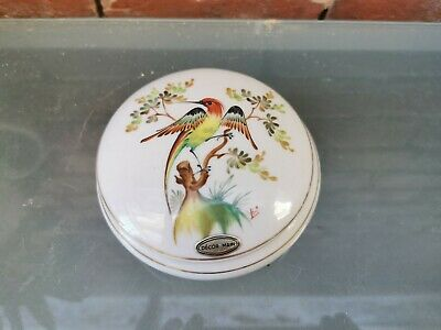 Limoges Baud Hand Painted Porcelain Trinket Box Decorated With Birds Signed. • 22.99£