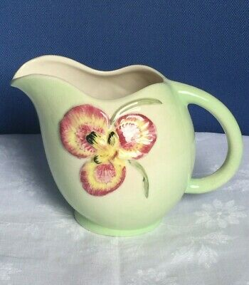 Vintage China - Large Jug. Shorter & Son Staffordshire. Green, Hand Painted.  • 11.99£